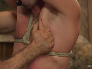 Gay porn in scenes of BDSM bondage