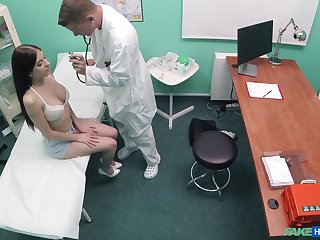 Rebecca Volpetti gets fucked by hard doctor's penis while she moans
