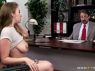 Horny partisan Lena Paul gets fucked by a catch dean in his office