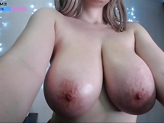 Amazing HUGE Bowels - young big naturals on the top of webcam