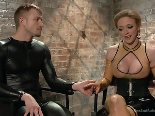 Cum dripping from Dee Williams's outlook after verge on BDSM fucking