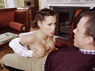 Snazzy wife Satin Bloom with the complete set of knockers fucked good