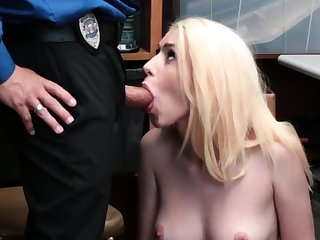 Young guy old woman with an increment of perfect blonde girl in homemade