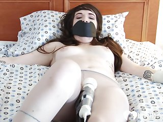 Already she was gagged and tied up, the brush boyfriend used a toy to pleasure the brush