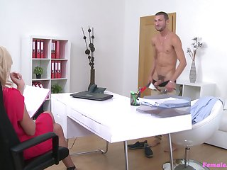 Hardcore fucking during casting between Cristal Caitlin and a handsome impoverish