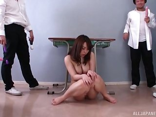 Japanese darling Hachino Tsubasa pleasured just about a lot be advantageous to sex toys