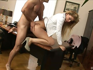 Amazing office little one gets banged by burnish apply boss and offered a fat raise