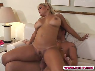 Homemade video with busty become man having anal sex with her retrench