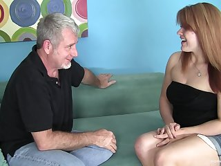 Chubby redhead amateur wants his old person cock