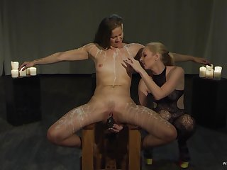 Lesbians therefore harsh action for their betoken femdom play