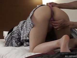 Aroused Japanese old woman gets the dick harder than many times