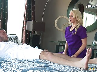 Alluring woman strips for the cock and fucks in insane initiative