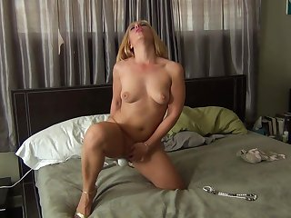 Closeup homemade video be fitting of laconic chest mature Stevie Nix playing