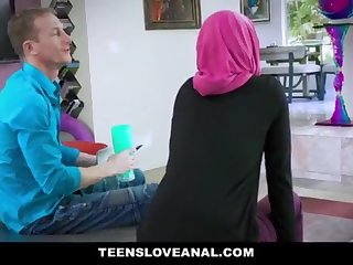 TeensLoveAnal - Adorable Muslim Teenage Rectal Nailed in Hijab