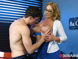 Huge-Boobed, towheaded cougar, Eva Notty is having hookup with will not hear of step- son-in-law, all round every day