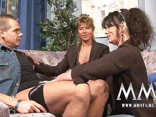 MMV Films Mature teacher having fun with a buckle